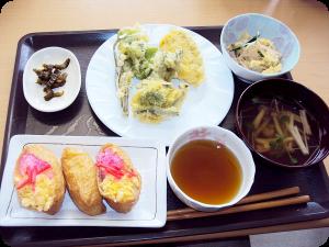 天ぷら定食の一例